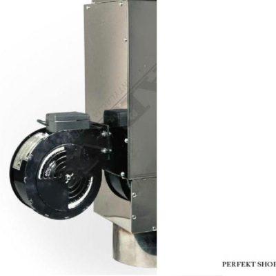 Teplovzdušný výměník 450 m³/h s ventilátorem