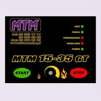 Olejová kamna MTM GT 15-35 kW ovládání